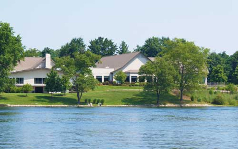 Clubhouse from lake